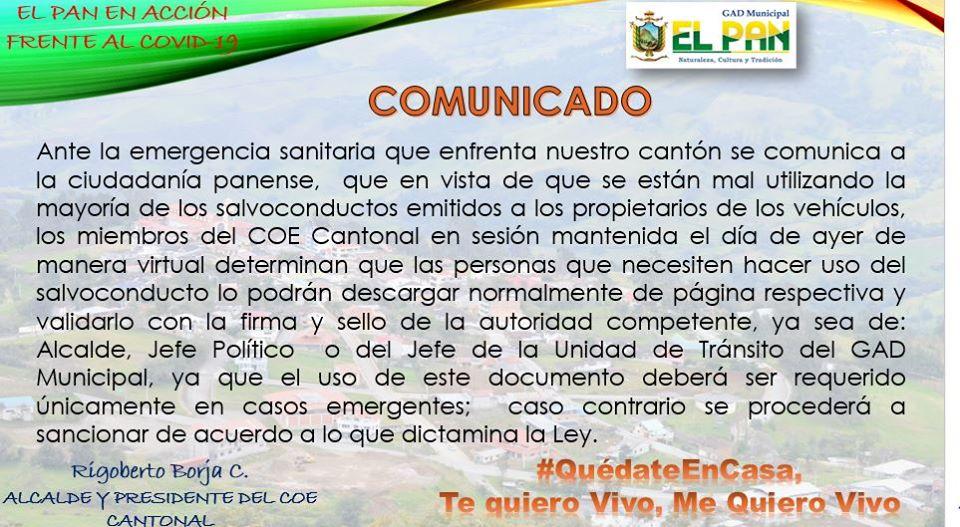 COMUNICADO OFICIAL 14-04